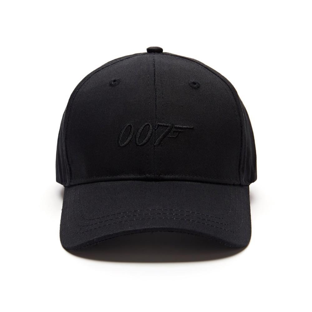 007 Embroidered Logo Baseball Cap - Black on Black