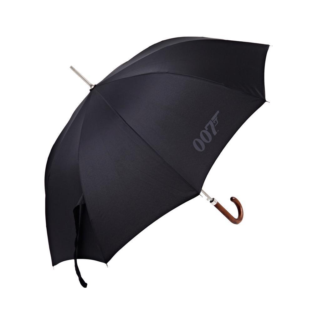 007 Wooden Hook-handle Black Umbrella
