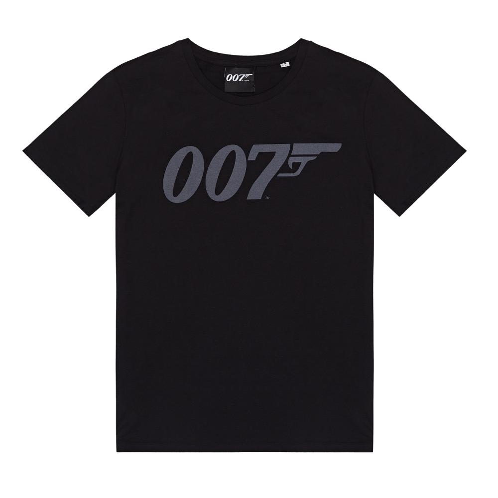 Black 007 Logo Organic Cotton T-Shirt