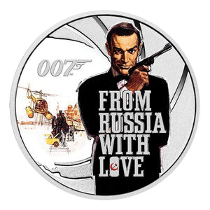 James Bond 1/2 oz Silver Proof 25 Coin Series By The Perth Mint - Subscription Service