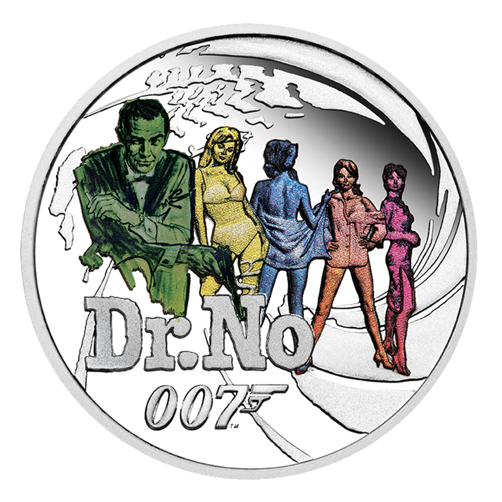 James Bond Dr. No 1/2 oz Silver Proof Coin - by The Perth Mint