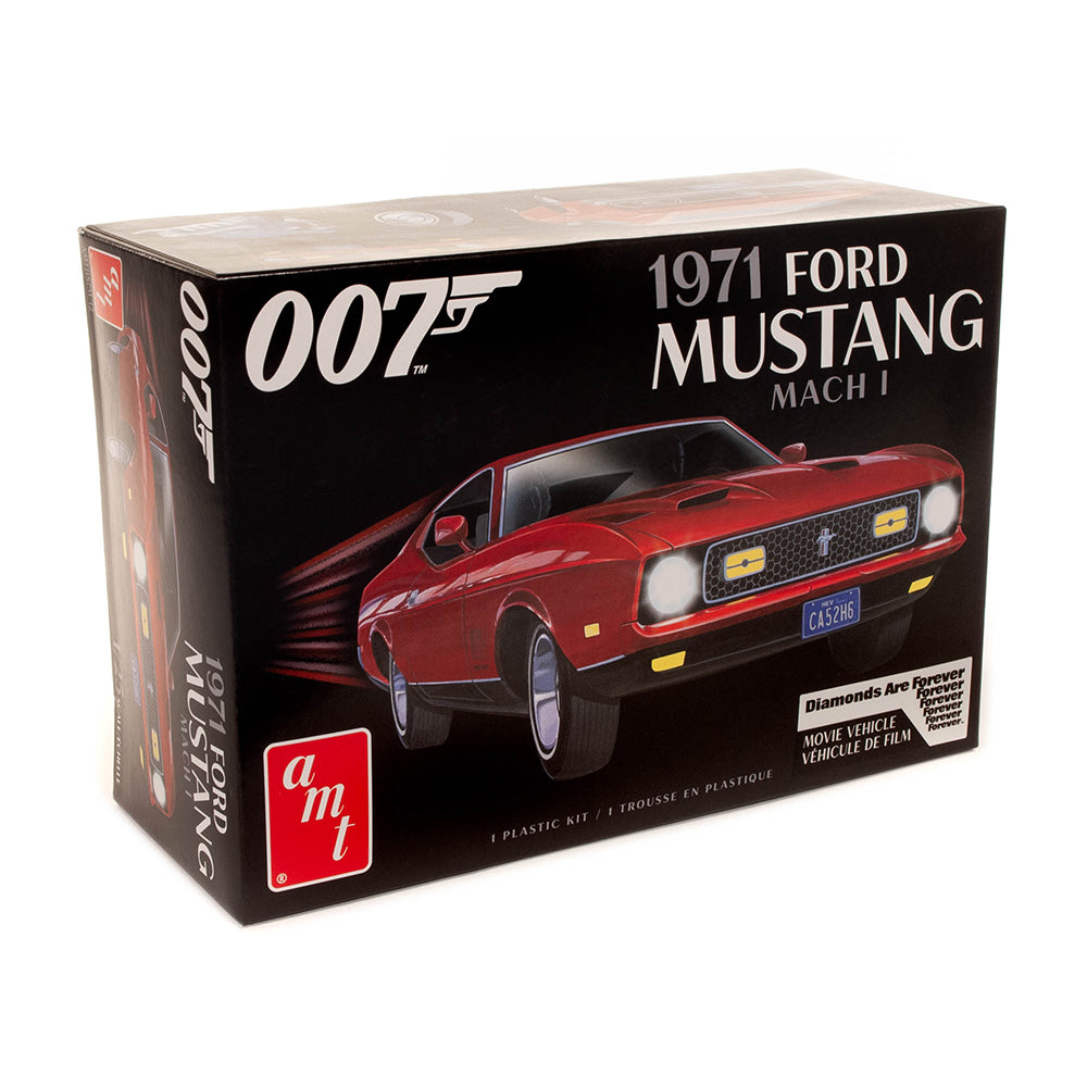 James Bond 1971 Ford Mustang Car Model Kit - Diamonds Are Forever Edition - By AMT
