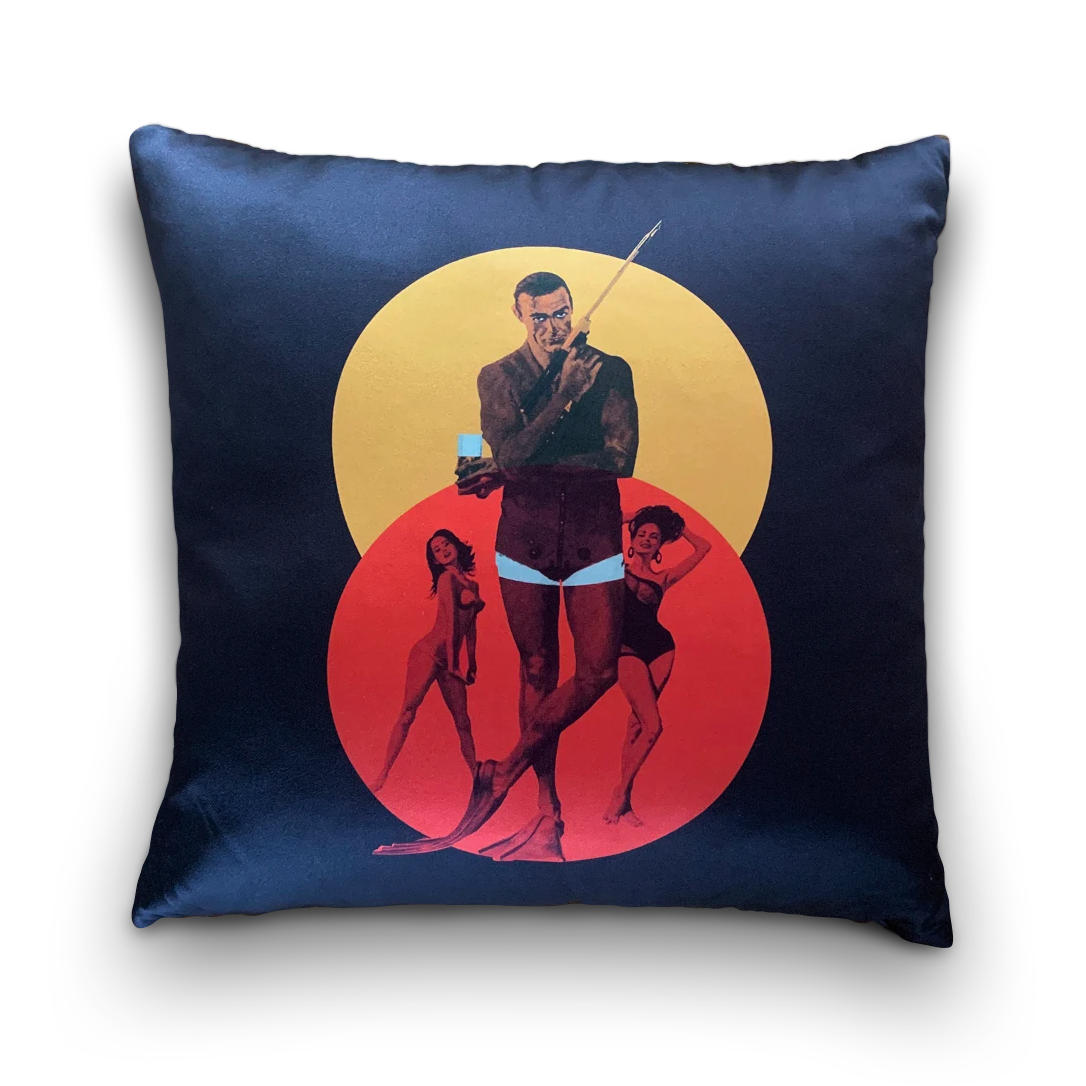 James Bond Thunderball Silk Cushion