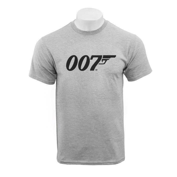 Grey Marl 007 Logo Organic Cotton T-Shirt