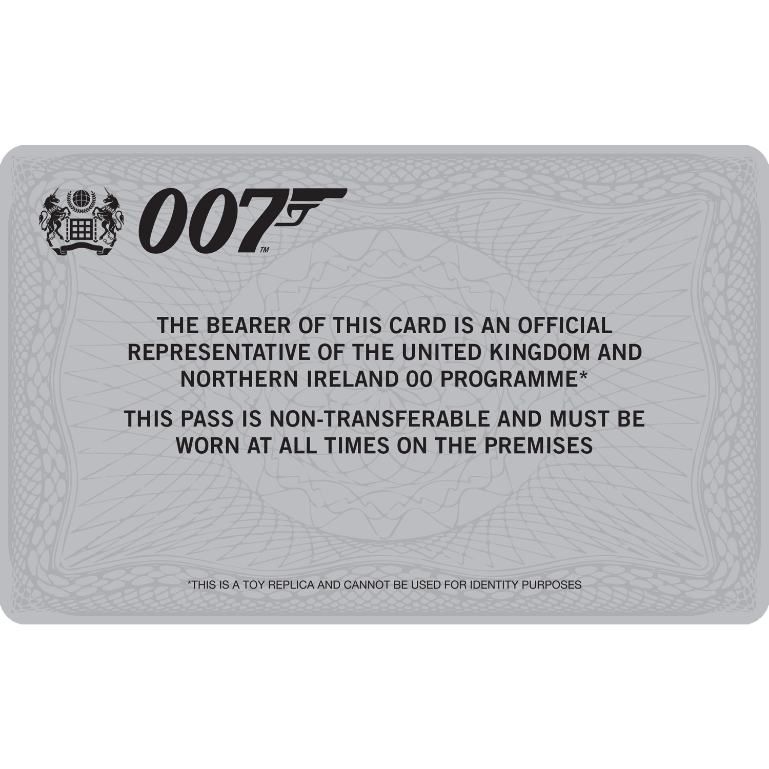 Personalised 007 ID Card
