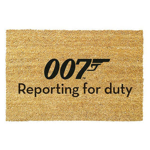 """Reporting For Duty"" Coir Door Mat (Pre-order)"