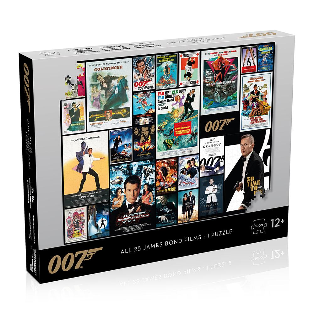 James Bond 007 25 Film Poster 1000 Piece Puzzle - (Pre-order)