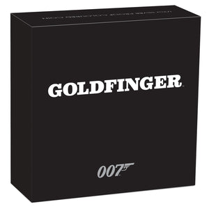 James Bond Goldfinger 1/2 oz Silver Proof Coin - by The Perth Mint