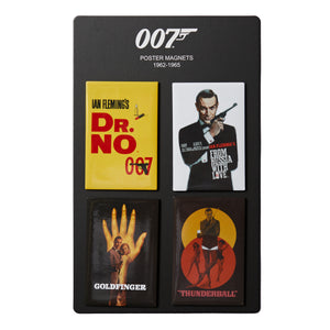 James Bond Vintage Poster Magnet Set - 1962-1965 Edition