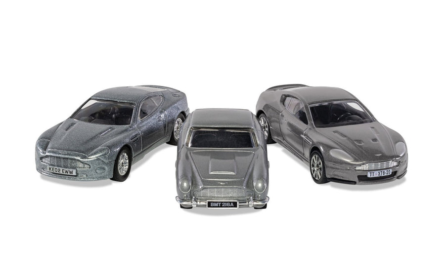 James Bond Aston Martin Model Car Trio - DB5, V12 Vanquish & DBS - By Corgi (Pre-order)