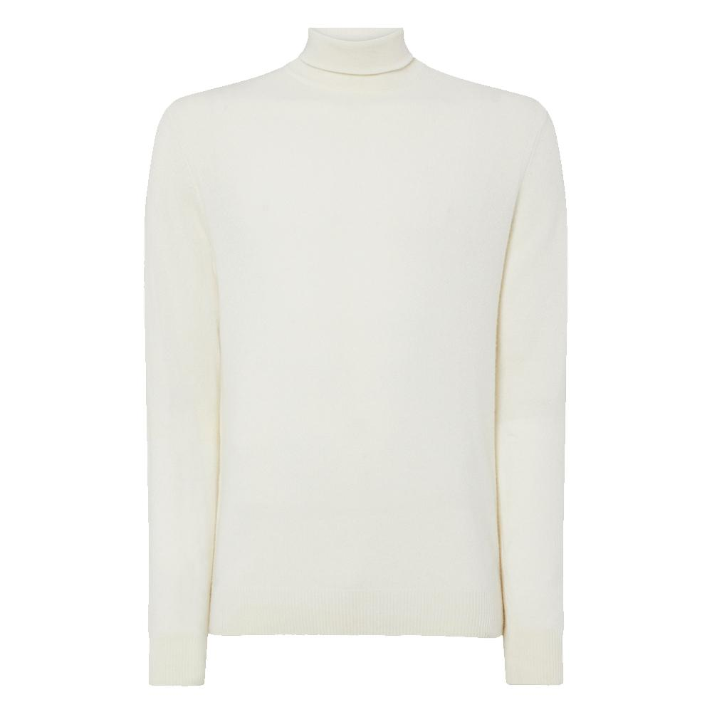 Ivory Cashmere Roll Neck Sweater - On Her Majesty's Secret Service Limited Edition By N.Peal