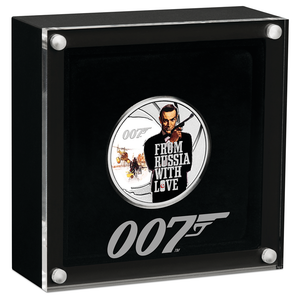 James Bond From Russia With Love 1/2 oz Silver Proof Coin - By The Perth Mint