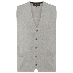 Fumo Grey Cashmere Milano Knit Waistcoat - Goldfinger Limited Edition By N.Peal