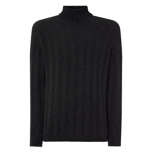 Chunky Rib Cashmere/Merino Roll Neck Sweater - Die Another Day Limited Edition By N.Peal