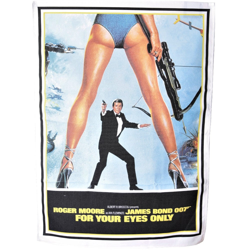 For Your Eyes Only Tea-Towel