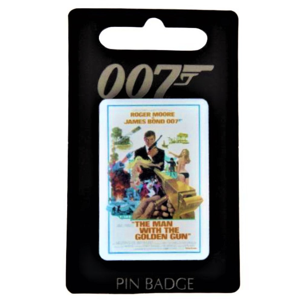 The Man With The Golden Gun Pin Badge