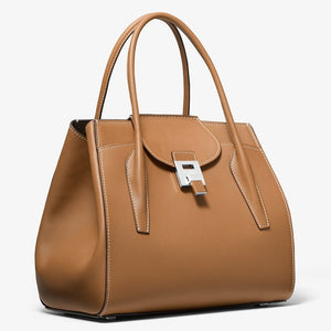 MKC x 007 Bond Bancroft Satchel in Smooth Calf Leather - by Michael Kors Collection