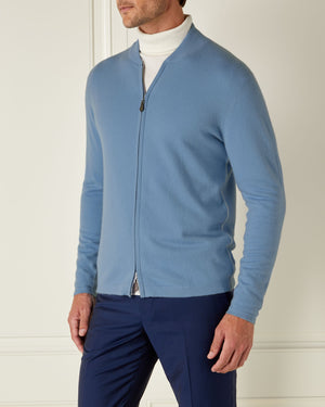 Blue Cashmere Bomber Jacket - On Her Majesty's Secret Service Limited Edition By N.Peal