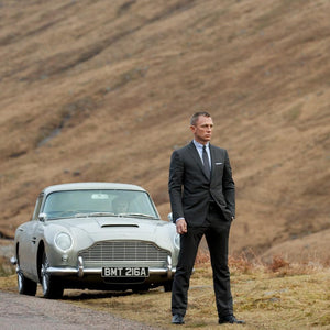 James Bond Aston Martin DB5 Model Car with Display Tin - Skyfall Edition - by Round 2 (Pre-order)