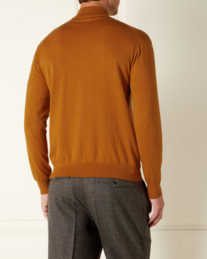 Orange Cotton/Cashmere Sweater - On Her Majesty's Secret Service Edition - By N.Peal