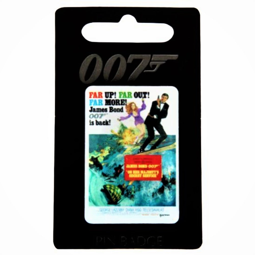 On Her Majesty's Secret Service Pin Badge