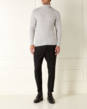 Cable Knit Roll Neck - Spectre Edition - By N.Peal