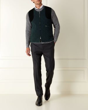 Quilted Cashmere Gilet - For Your Eyes Only Edition - By N.Peal