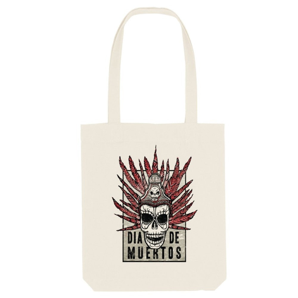 DAY OF THE DEAD - DIA DE MUERTOS (NATURAL COTTON TOTE BAG)