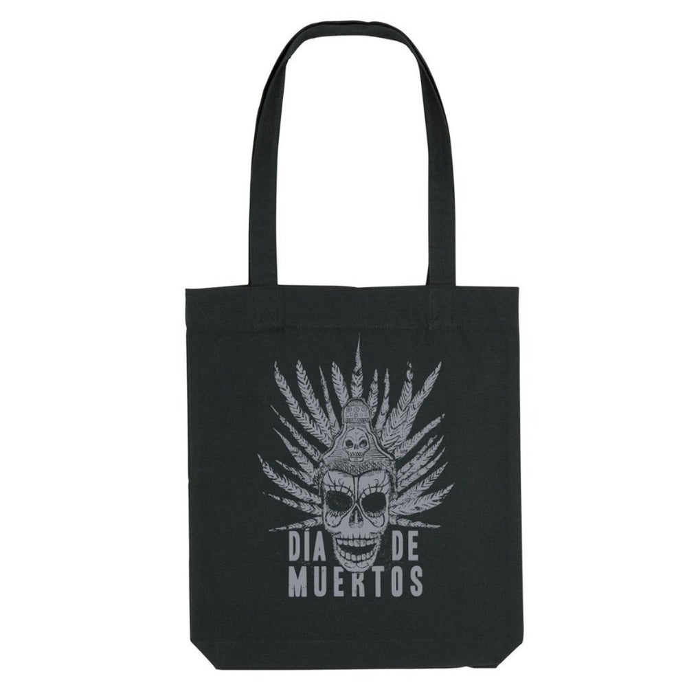 DAY OF THE DEAD - DIA DE MUERTOS (BLACK COTTON TOTE BAG)