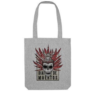DAY OF THE DEAD - DIA DE MUERTOS (GREY MARL COTTON TOTE BAG)