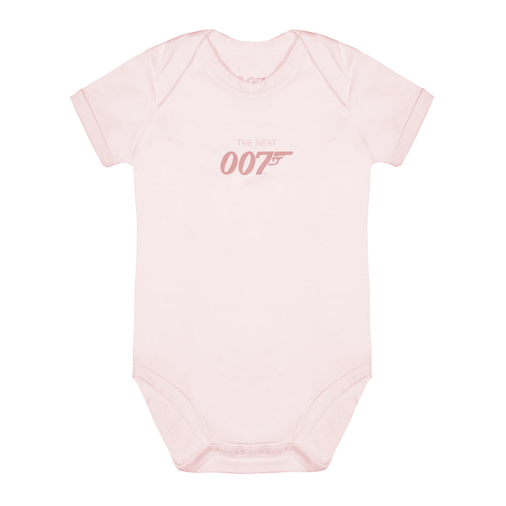 The Next 007 Pink Baby Bodysuit