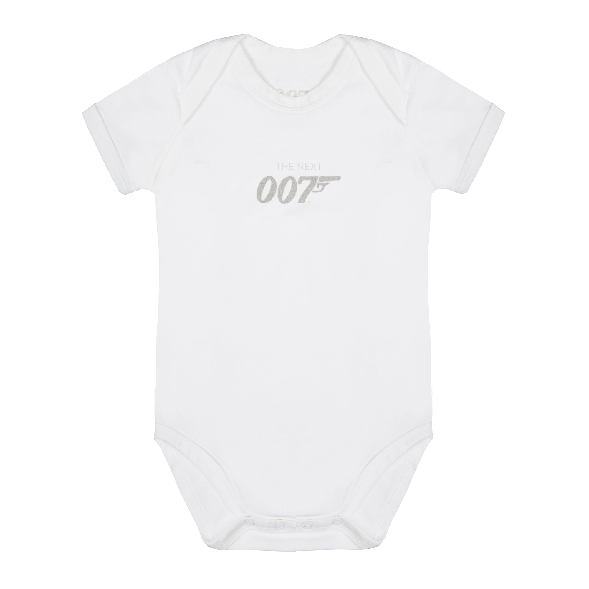 The Next 007 White Baby Bodysuit