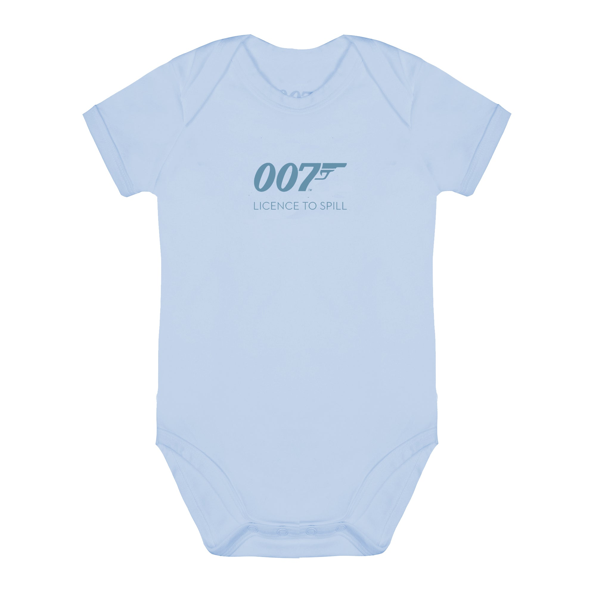 007 Licence To Spill Blue Baby Bodysuit