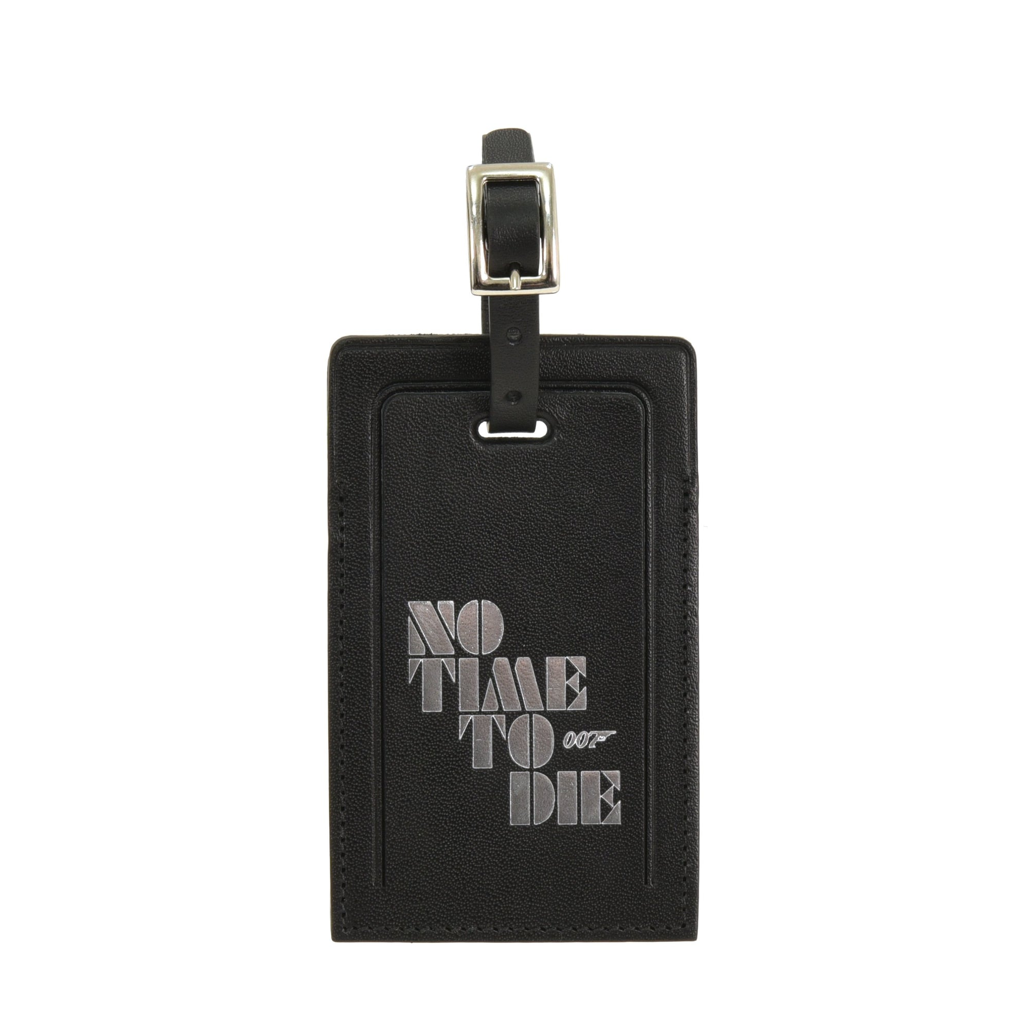 No Time To Die Leather Luggage Tag - By Globe-Trotter