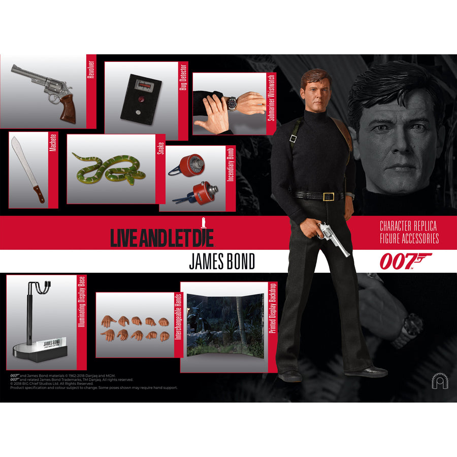 LIMITED EDITION 1:6 SCALE JAMES BOND LIVE AND LET DIE FIGURE (PRE-ORDER)