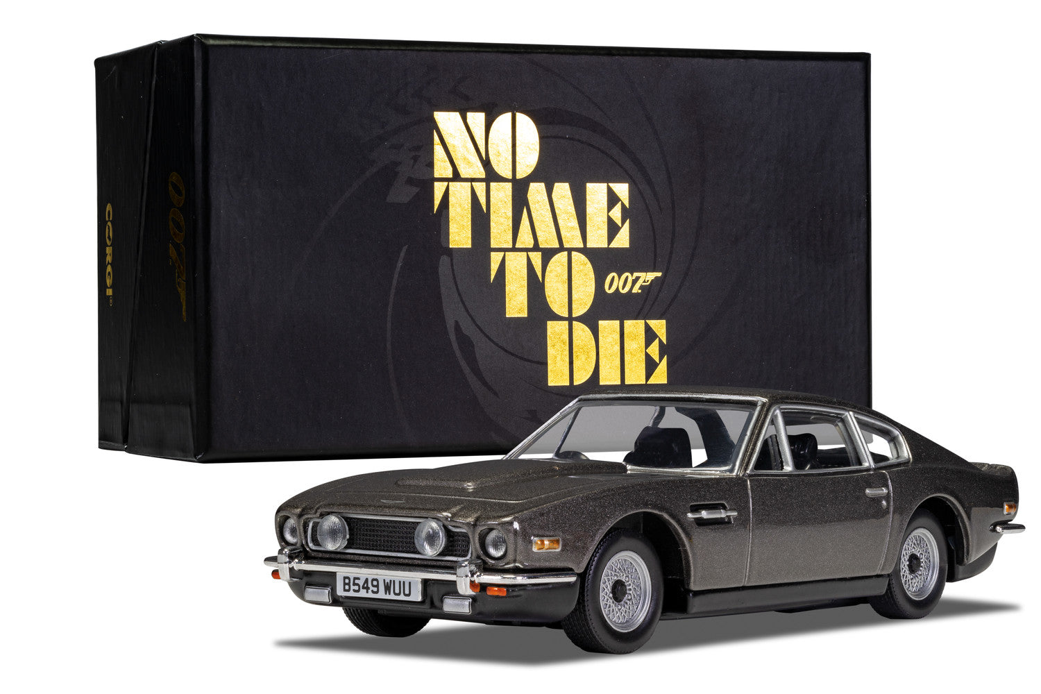 James Bond Aston Martin V8 Vantage Model Car - No Time To Die Edition - By Corgi