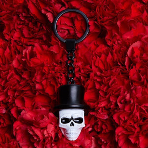 Day of the Dead Skull Mask Keyring - Spectre Limited Edition