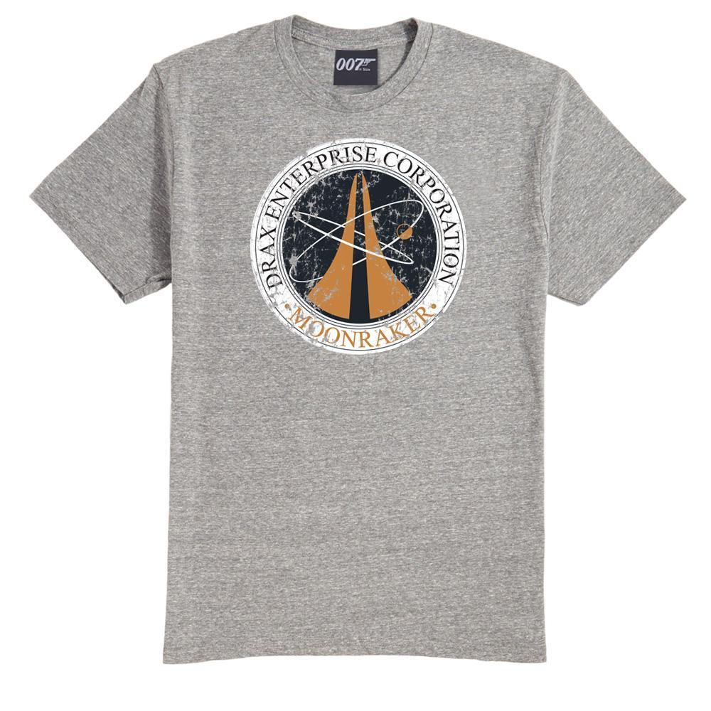 Drax Enterprise Corporation Grey Marl T-Shirt - Moonraker Edition