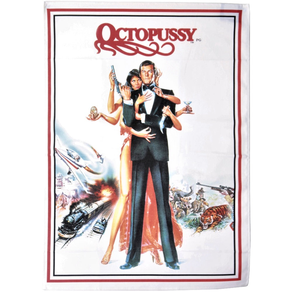 Octopussy Poster Tea Towel