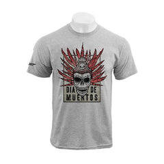 DAY OF THE DEAD - DIA DE MUERTOS (GREY MARL T-SHIRT)