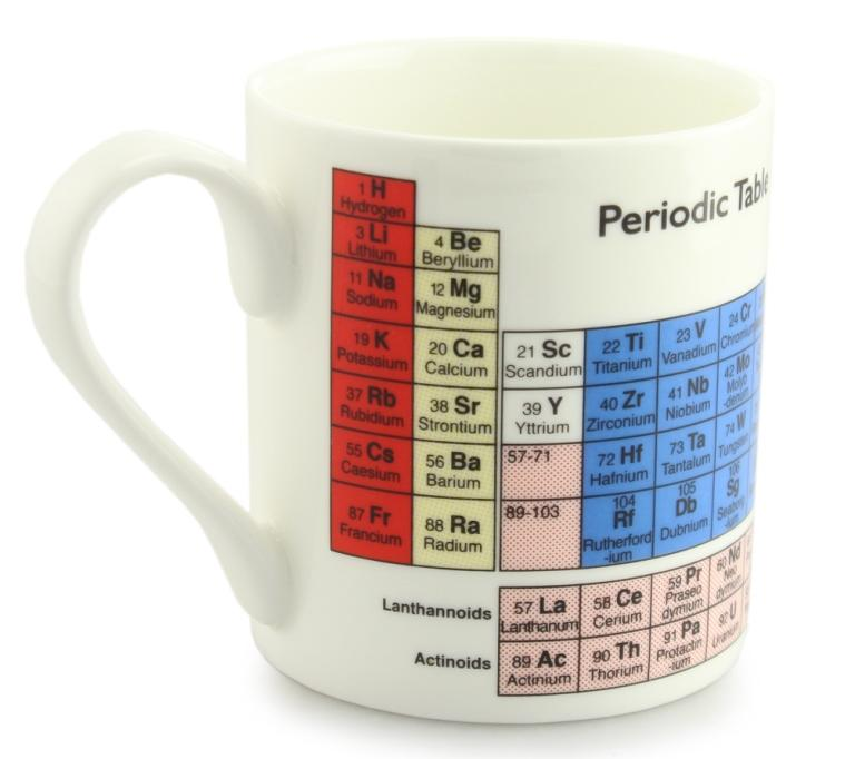 Periodic Table Bone China Mug - By McLaggan Smith