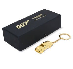 Aston Martin DB5 Gold Finish James Bond Keyring - By Aston Martin