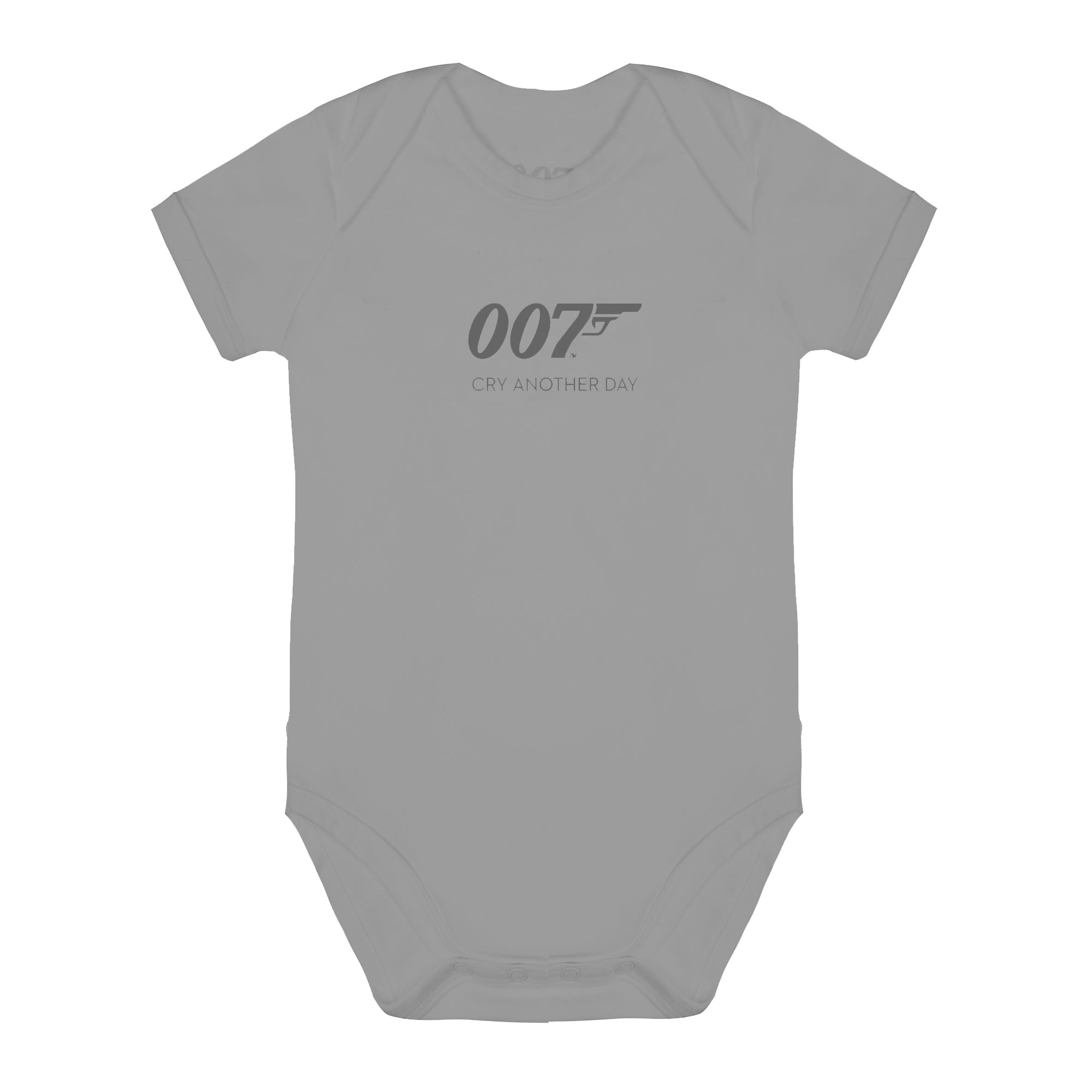 007 Cry Another Day Grey Marl Baby Bodysuit