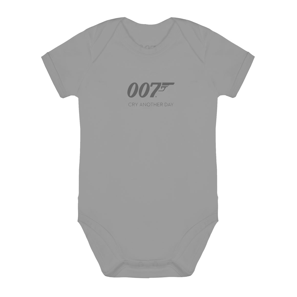 Cry Another Day 007 Grey Marl Baby Bodysuit