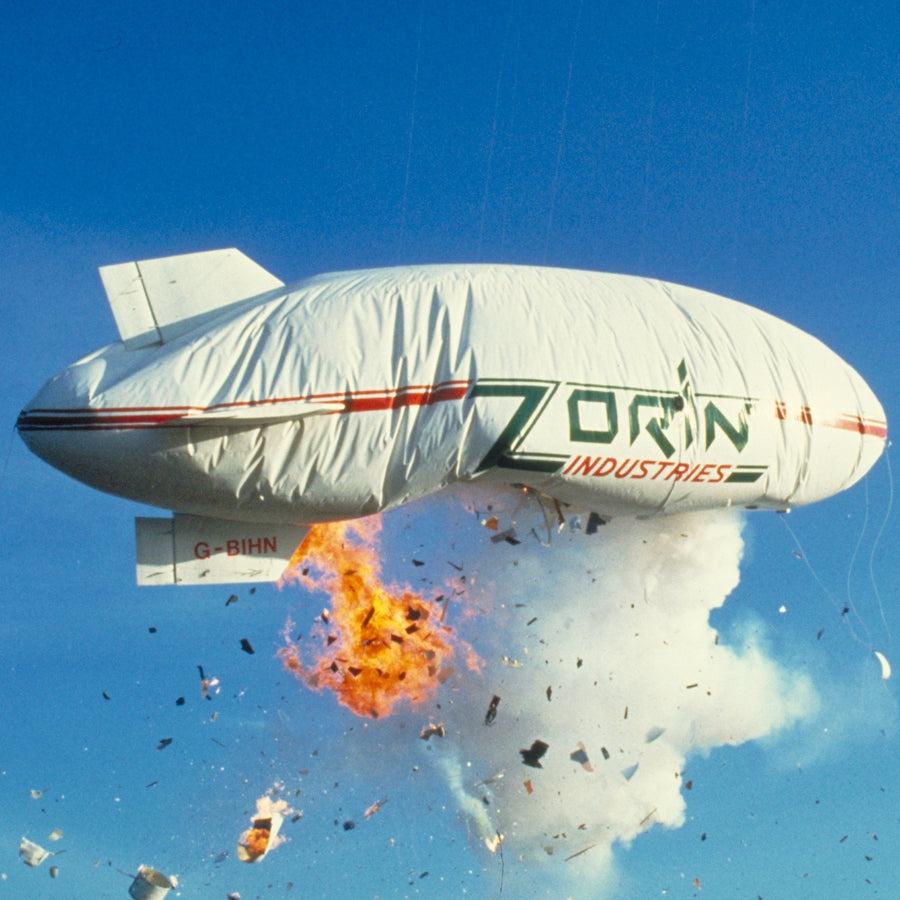 White Zorin Industries Blimp T-Shirt - A View To A Kill Edition