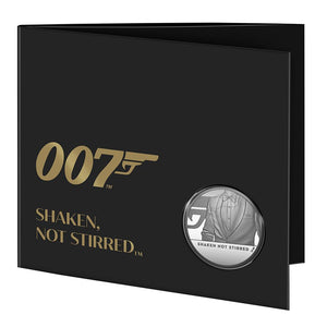 """Shaken Not Stirred"" James Bond £5 Brilliant Uncirculated Coin - By The Royal Mint"