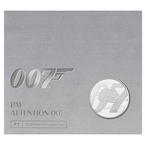 """Pay Attention 007"" James Bond £5 Brilliant Uncirculated Coin - By The Royal Mint"