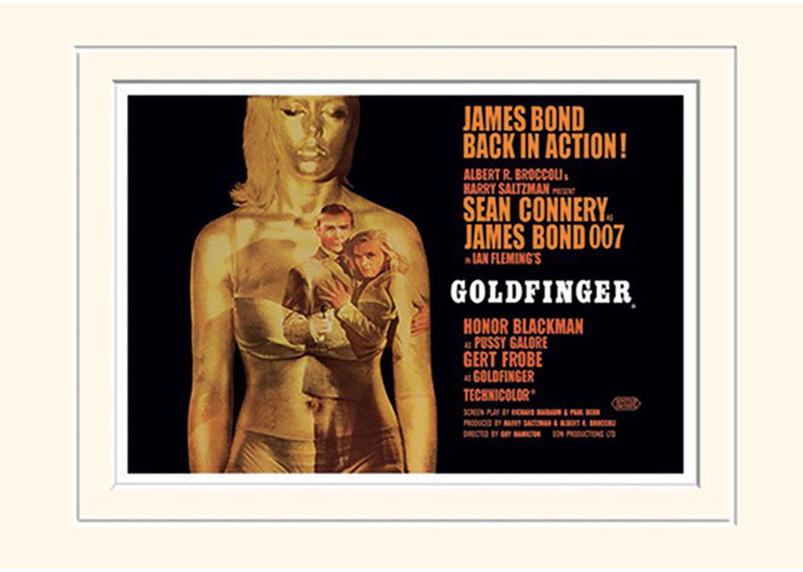 GOLDFINGER (PROJECTION) 30 x 40CM MOUNTED PRINT