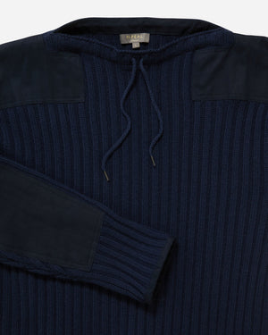 Navy Ribbed Army Sweater - No Time To Die Limited Edition - By N.Peal