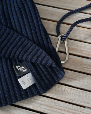 Navy Ribbed Army Sweater - No Time To Die Limited Edition - By N. Peal